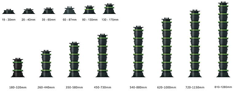 adjustable plastic pedestals modules